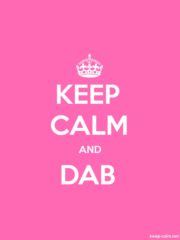 KEEP CALM AND DAB - white/pink - Default (600x800)