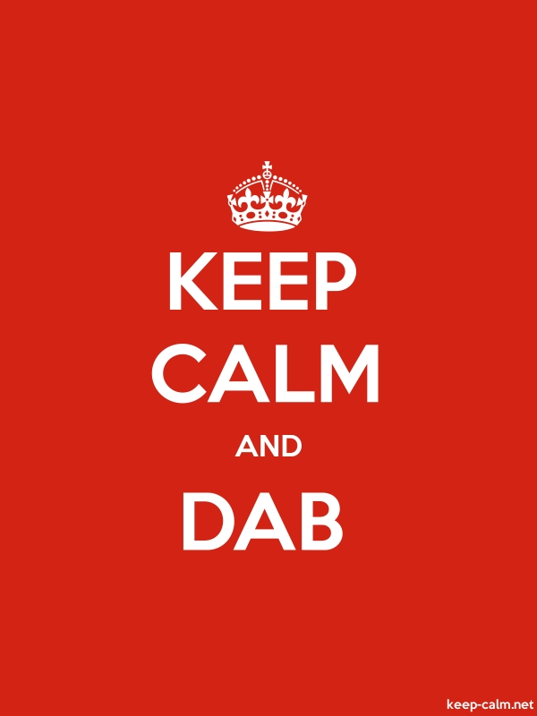 KEEP CALM AND DAB - white/red - Default (600x800)