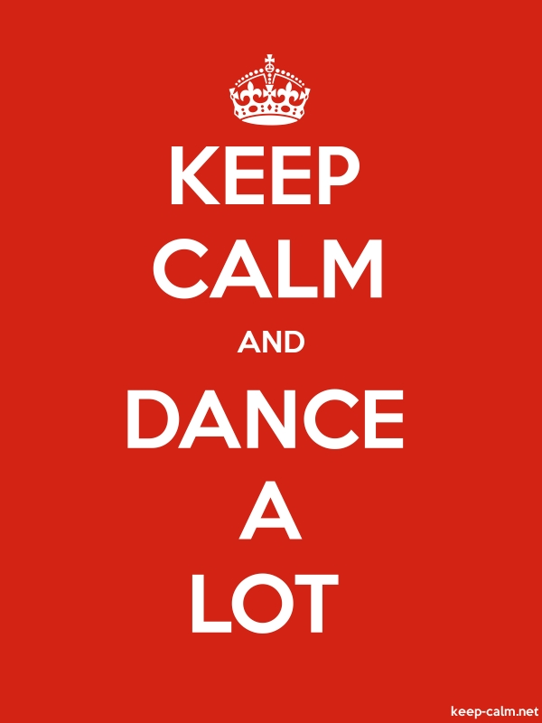KEEP CALM AND DANCE A LOT - white/red - Default (600x800)