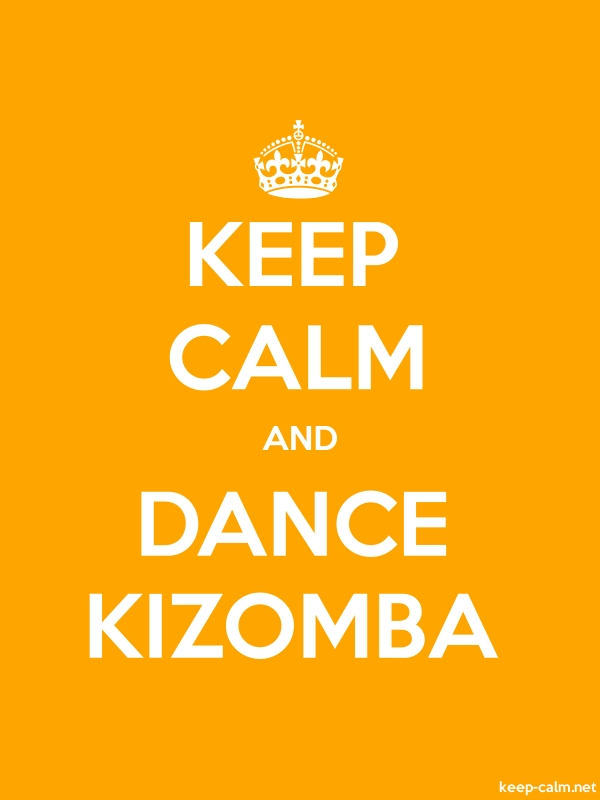 KEEP CALM AND DANCE KIZOMBA - white/orange - Default (600x800)