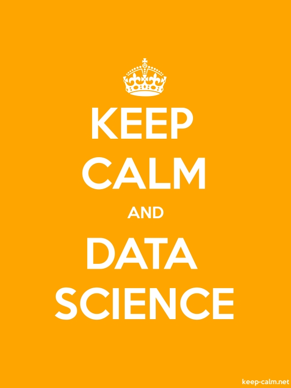 KEEP CALM AND DATA SCIENCE - white/orange - Default (600x800)