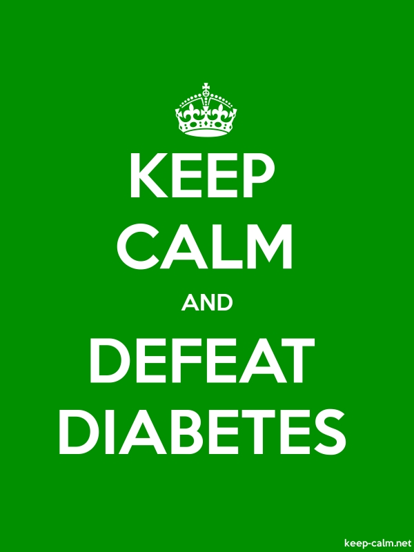 KEEP CALM AND DEFEAT DIABETES - white/green - Default (600x800)