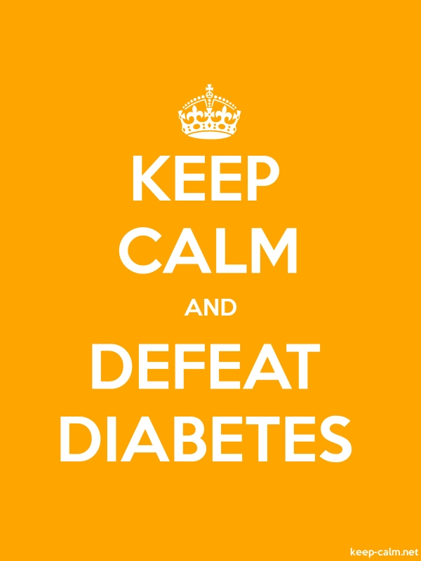 KEEP CALM AND DEFEAT DIABETES - white/orange - Default (600x800)