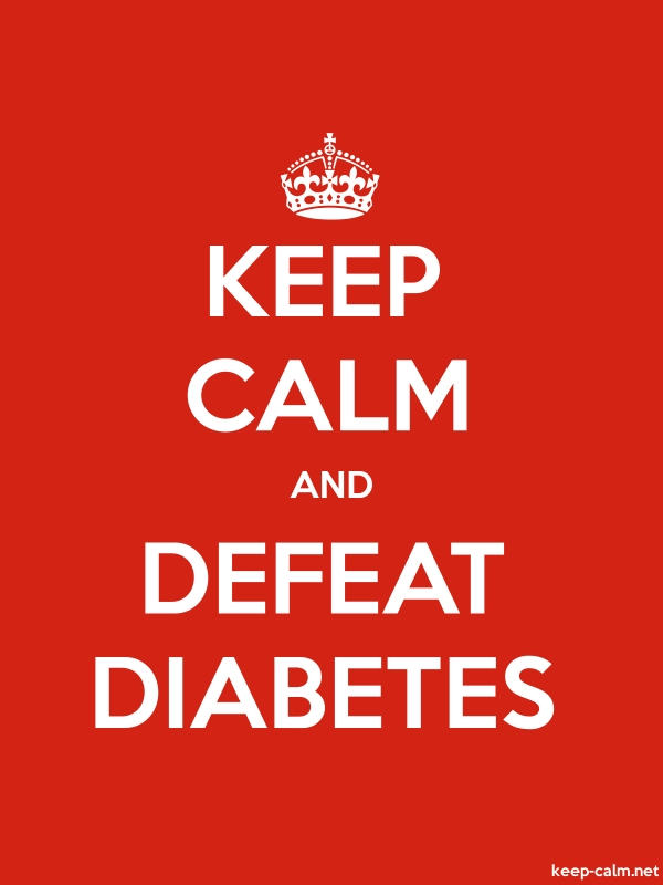 KEEP CALM AND DEFEAT DIABETES - white/red - Default (600x800)