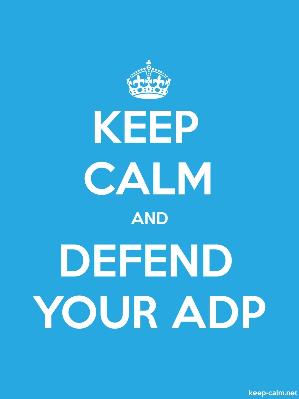 KEEP CALM AND DEFEND YOUR ADP - white/blue - Default (600x800)