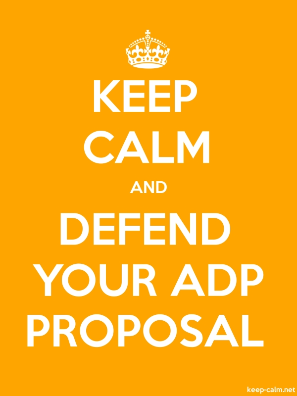 KEEP CALM AND DEFEND YOUR ADP PROPOSAL - white/orange - Default (600x800)