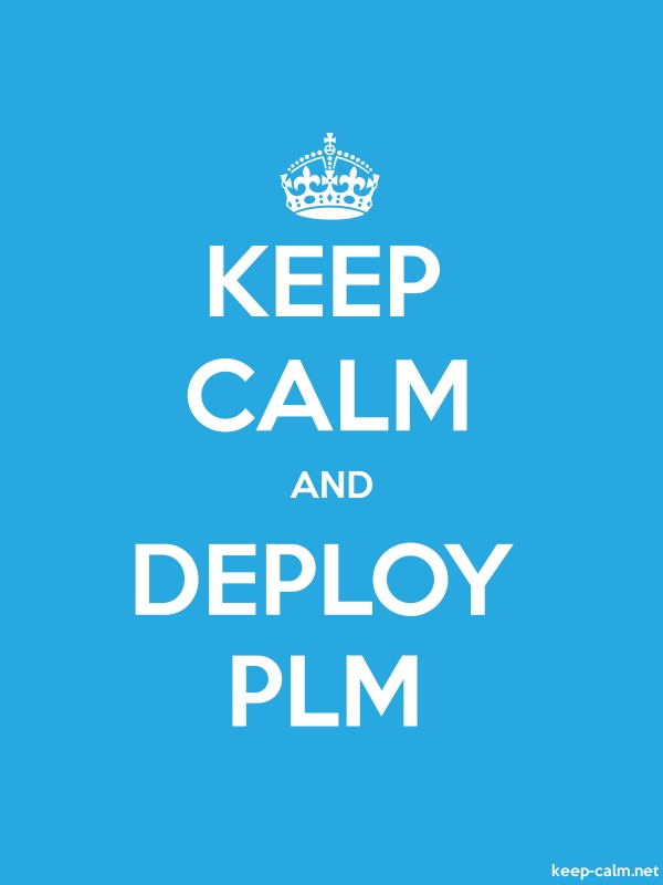 KEEP CALM AND DEPLOY PLM - white/blue - Default (600x800)