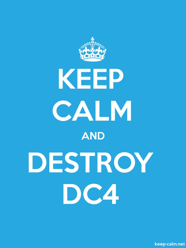 KEEP CALM AND DESTROY DC4 - white/blue - Default (600x800)