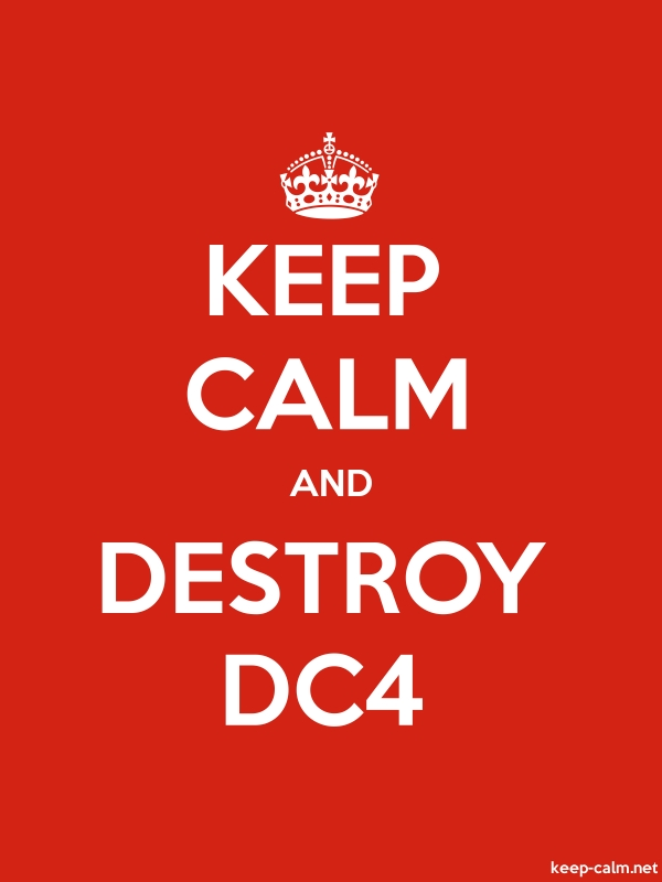 KEEP CALM AND DESTROY DC4 - white/red - Default (600x800)