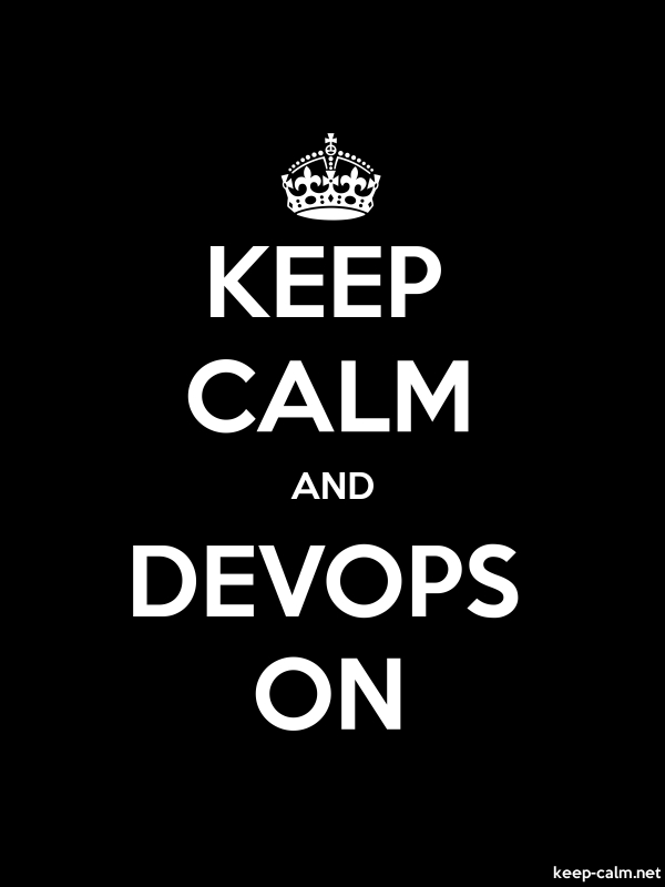 KEEP CALM AND DEVOPS ON - white/black - Default (600x800)