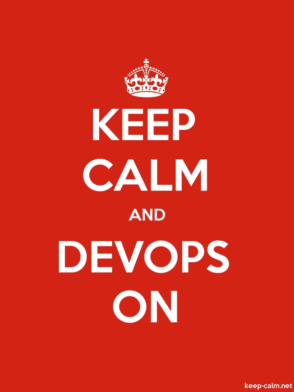 KEEP CALM AND DEVOPS ON - white/red - Default (600x800)
