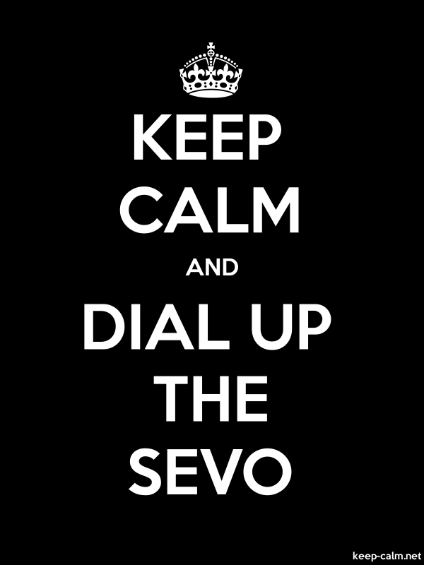KEEP CALM AND DIAL UP THE SEVO - white/black - Default (600x800)