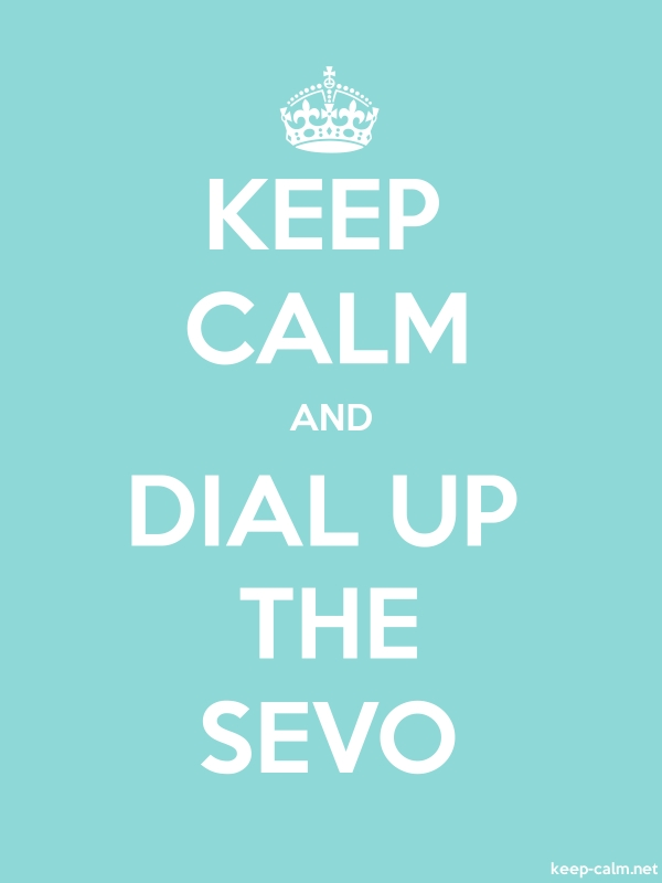 KEEP CALM AND DIAL UP THE SEVO - white/lightblue - Default (600x800)