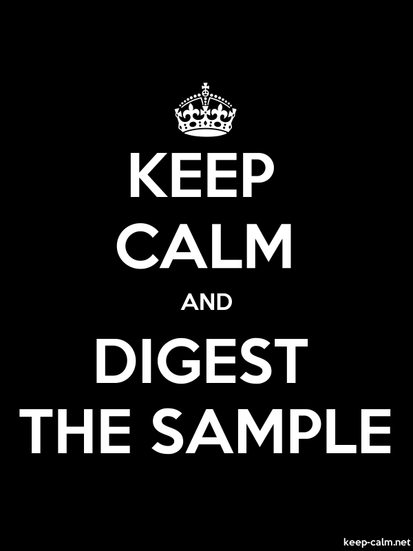 KEEP CALM AND DIGEST THE SAMPLE - white/black - Default (600x800)