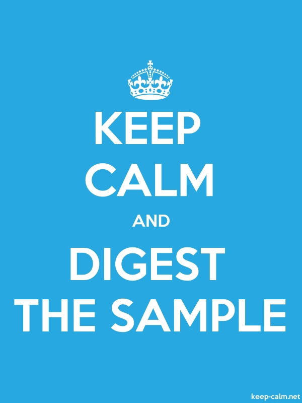 KEEP CALM AND DIGEST THE SAMPLE - white/blue - Default (600x800)