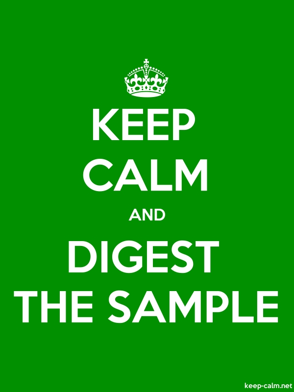 KEEP CALM AND DIGEST THE SAMPLE - white/green - Default (600x800)