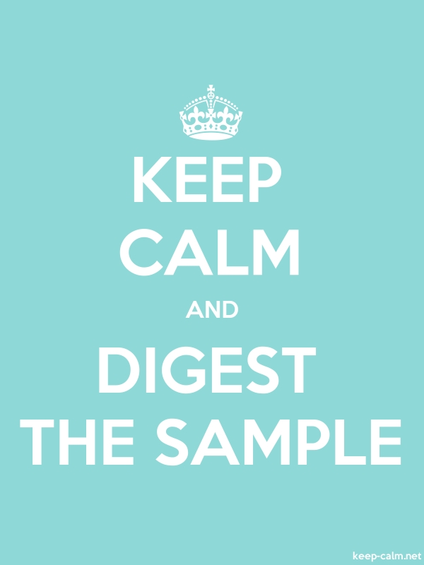 KEEP CALM AND DIGEST THE SAMPLE - white/lightblue - Default (600x800)