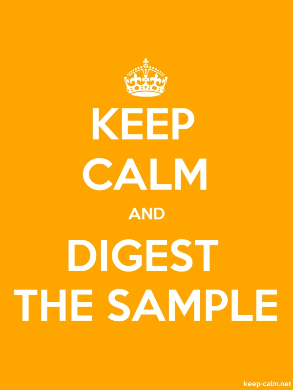 KEEP CALM AND DIGEST THE SAMPLE - white/orange - Default (600x800)