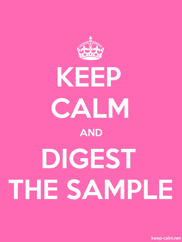 KEEP CALM AND DIGEST THE SAMPLE - white/pink - Default (600x800)