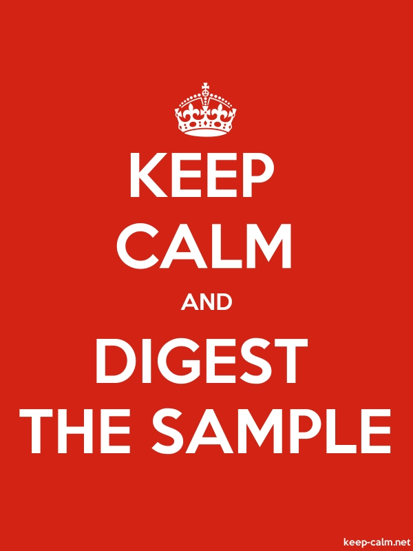KEEP CALM AND DIGEST THE SAMPLE - white/red - Default (600x800)