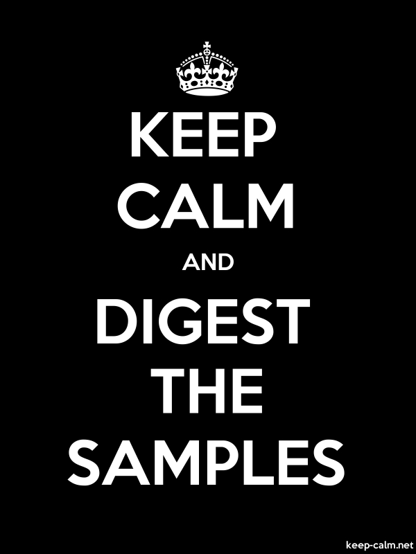 KEEP CALM AND DIGEST THE SAMPLES - white/black - Default (600x800)