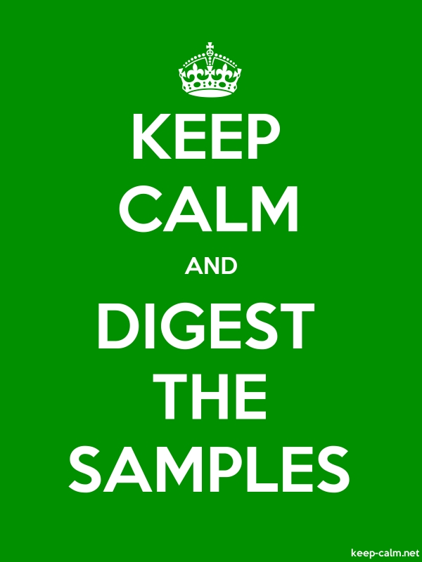 KEEP CALM AND DIGEST THE SAMPLES - white/green - Default (600x800)