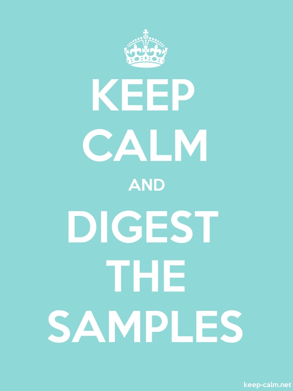 KEEP CALM AND DIGEST THE SAMPLES - white/lightblue - Default (600x800)