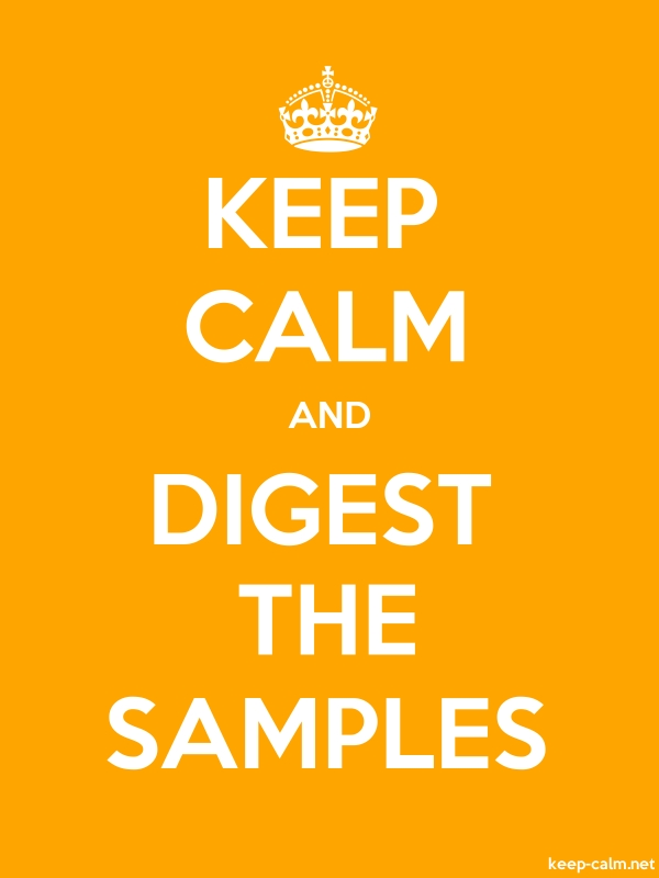 KEEP CALM AND DIGEST THE SAMPLES - white/orange - Default (600x800)