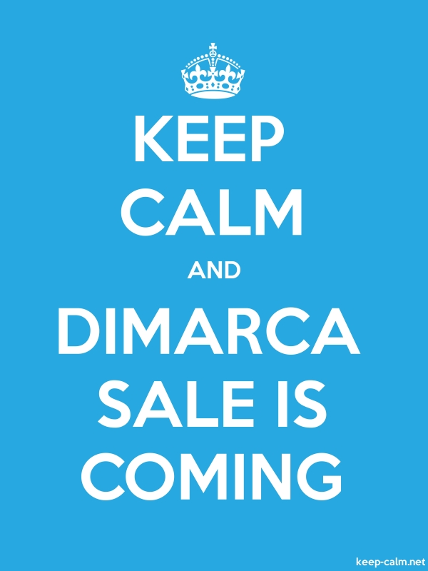 KEEP CALM AND DIMARCA SALE IS COMING - white/blue - Default (600x800)