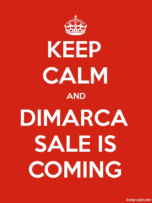 KEEP CALM AND DIMARCA SALE IS COMING - white/red - Default (600x800)