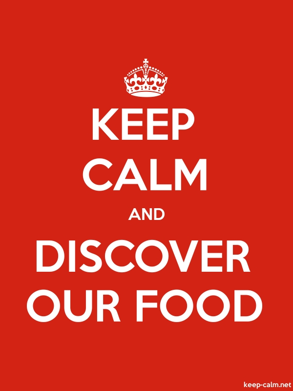 KEEP CALM AND DISCOVER OUR FOOD - white/red - Default (600x800)