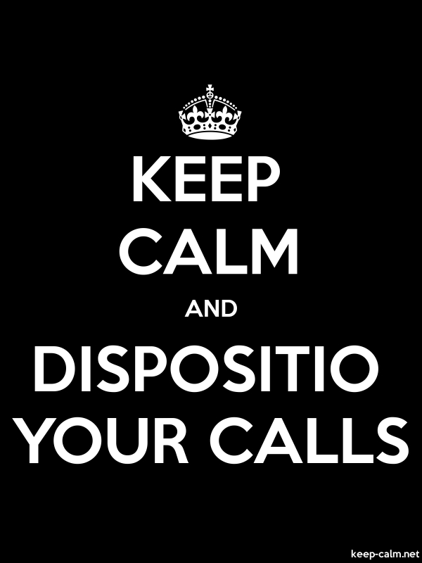 KEEP CALM AND DISPOSITIO YOUR CALLS - white/black - Default (600x800)