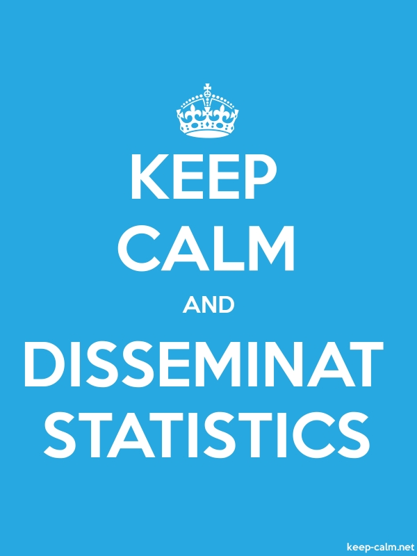 KEEP CALM AND DISSEMINAT STATISTICS - white/blue - Default (600x800)