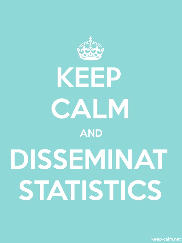 KEEP CALM AND DISSEMINAT STATISTICS - white/lightblue - Default (600x800)