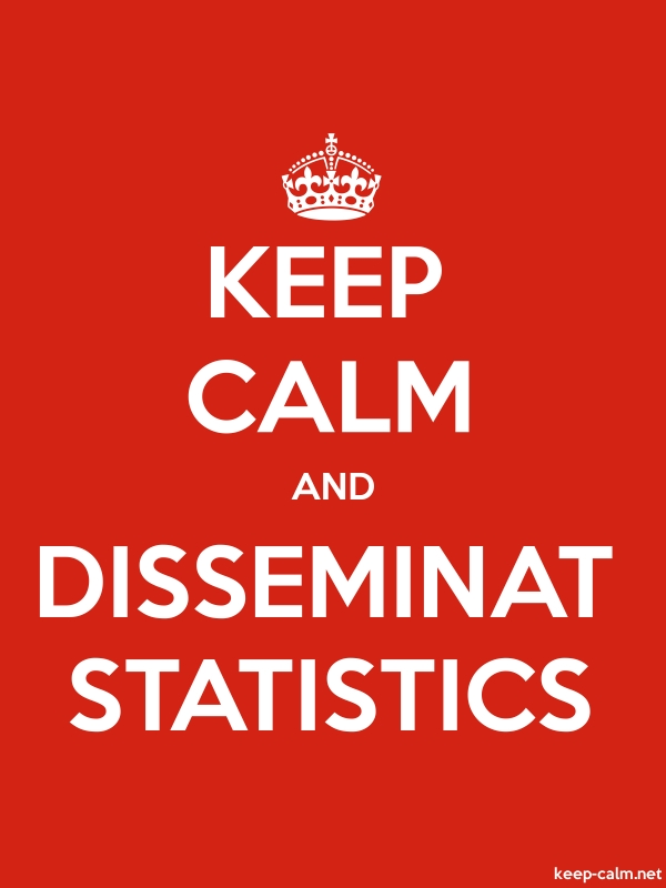 KEEP CALM AND DISSEMINAT STATISTICS - white/red - Default (600x800)