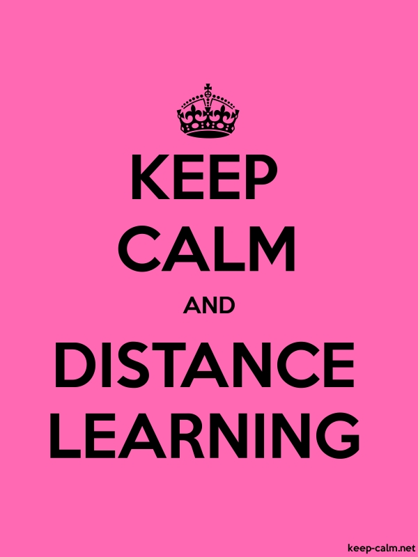 KEEP CALM AND DISTANCE LEARNING - black/pink - Default (600x800)