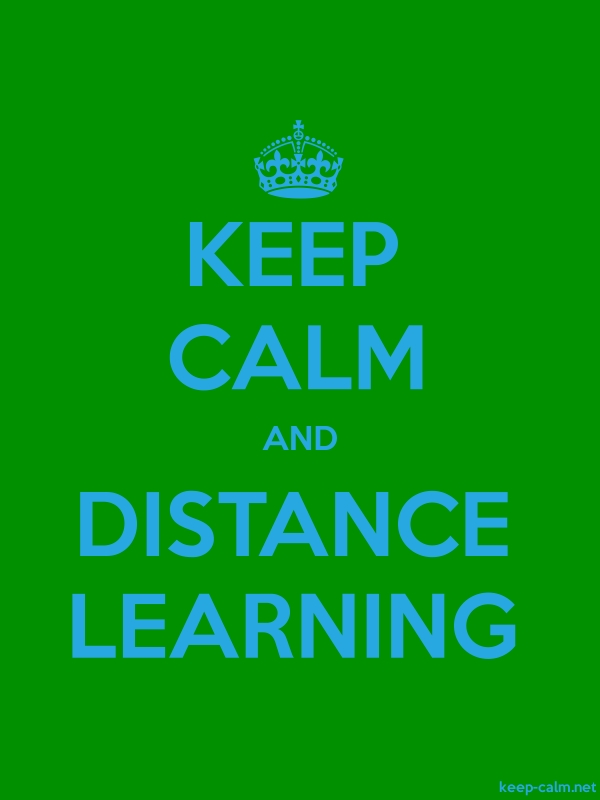 KEEP CALM AND DISTANCE LEARNING - blue/green - Default (600x800)