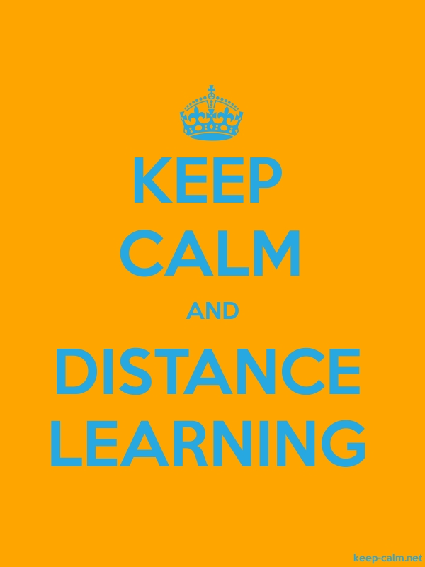KEEP CALM AND DISTANCE LEARNING - blue/orange - Default (600x800)