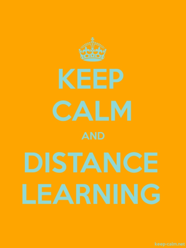 KEEP CALM AND DISTANCE LEARNING - lightblue/orange - Default (600x800)