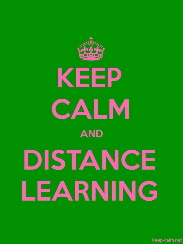 KEEP CALM AND DISTANCE LEARNING - pink/green - Default (600x800)