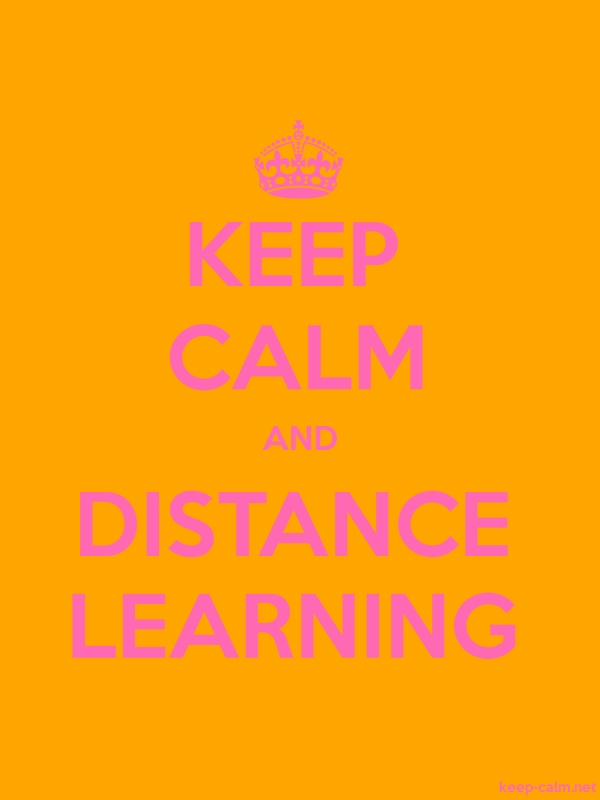 KEEP CALM AND DISTANCE LEARNING - pink/orange - Default (600x800)