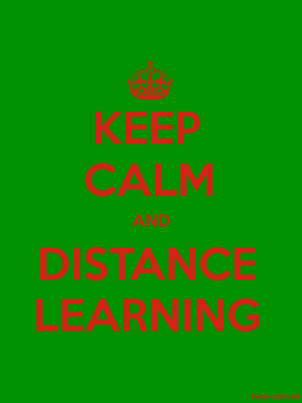 KEEP CALM AND DISTANCE LEARNING - red/green - Default (600x800)