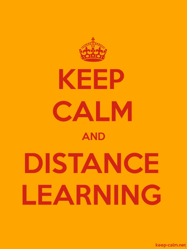 KEEP CALM AND DISTANCE LEARNING - red/orange - Default (600x800)