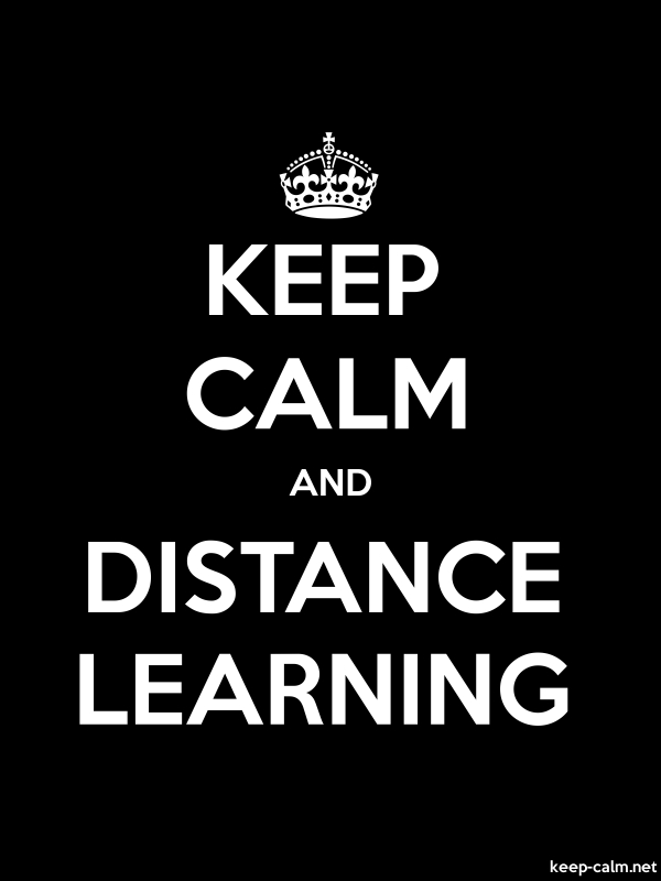 KEEP CALM AND DISTANCE LEARNING - white/black - Default (600x800)
