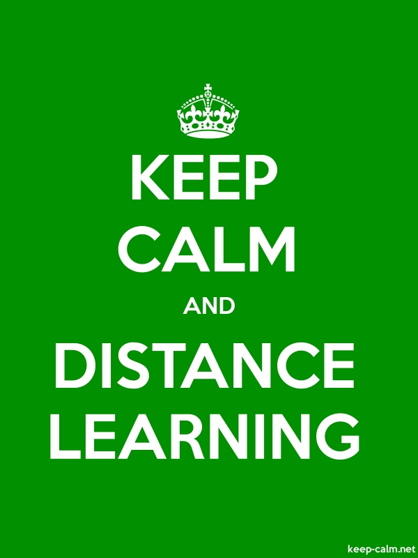 KEEP CALM AND DISTANCE LEARNING - white/green - Default (600x800)