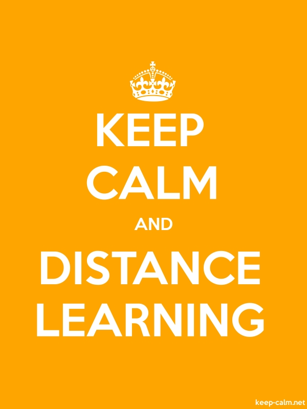 KEEP CALM AND DISTANCE LEARNING - white/orange - Default (600x800)