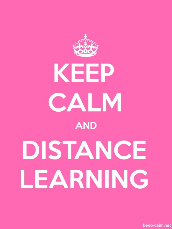 KEEP CALM AND DISTANCE LEARNING - white/pink - Default (600x800)