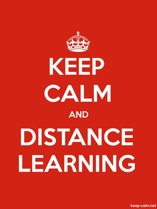 KEEP CALM AND DISTANCE LEARNING - white/red - Default (600x800)