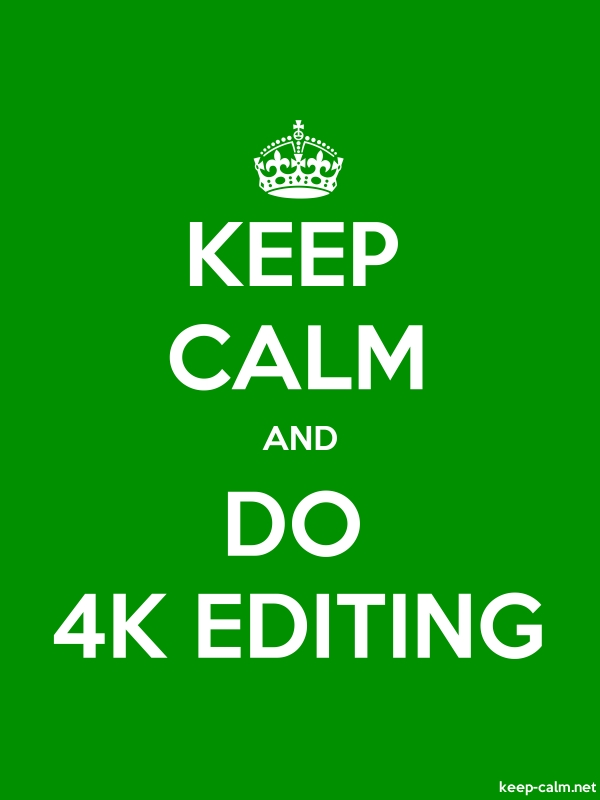 KEEP CALM AND DO 4K EDITING - white/green - Default (600x800)