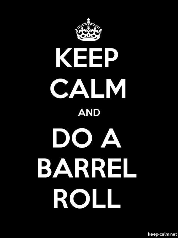 KEEP CALM AND DO A BARREL ROLL - white/black - Default (600x800)